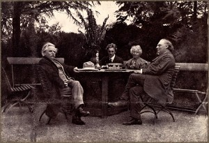 PG-with-Edvard-and-Nina-Grieg-and-Julius-Rontgen-at-Troldhaugen